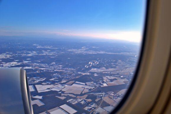 雪景色、広大な大地が美しく、絶好のフライト日和でした。