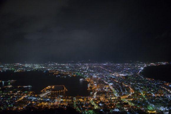 美しい函館の夜景だ。