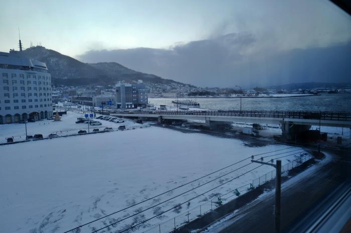 暮れなずむ函館の風景。