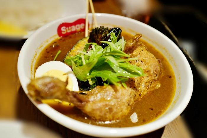 チキンレッグと野菜カレー(揚げ)