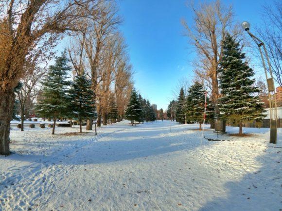 走りづらい雪道