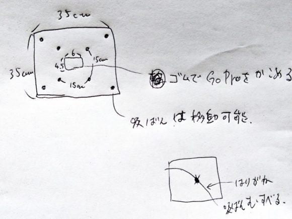 GoProHERO8専用の反射防止レフのデザイン。