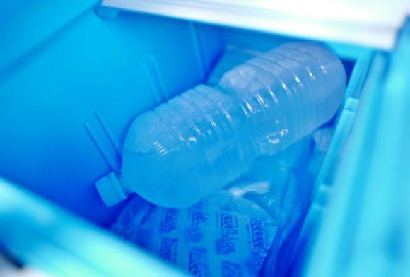 ペットボトルの氷がもらえた。26時間釣行なら余裕で冷える。