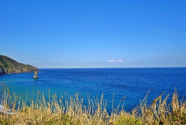 日中も絵になる筆島の光景。