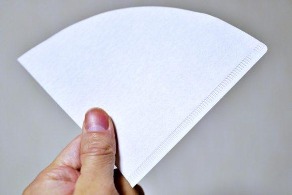 手のひらサイズの紙フィルター