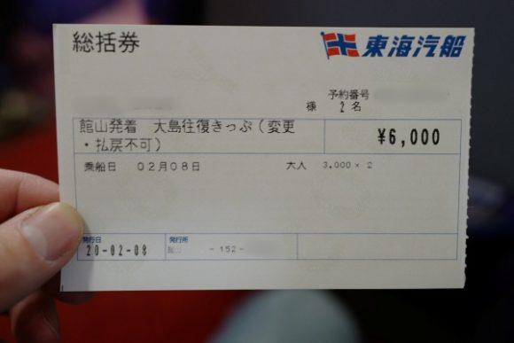 総括券(2名分)。
