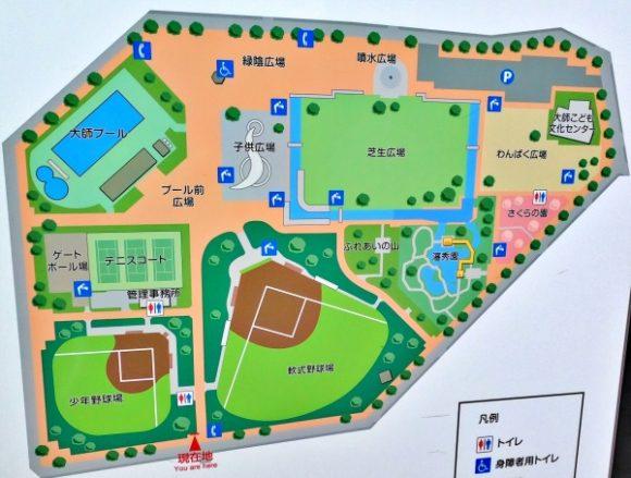 大師公園のマップ