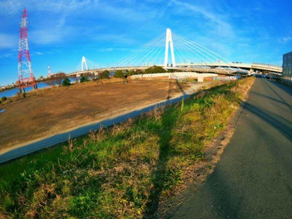 大師橋が見えてきた。