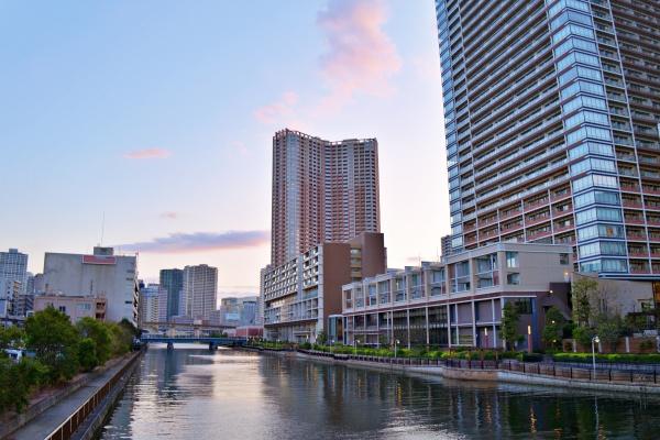 汐彩橋から夕方に撮影。