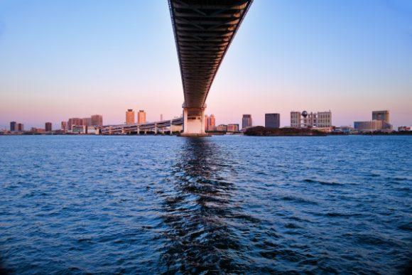 橋の真下から撮影。