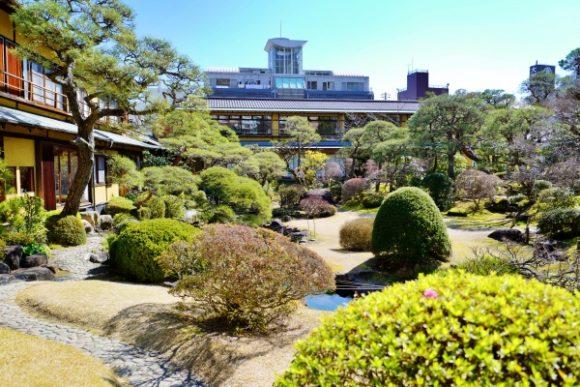 贅沢な庭園です。