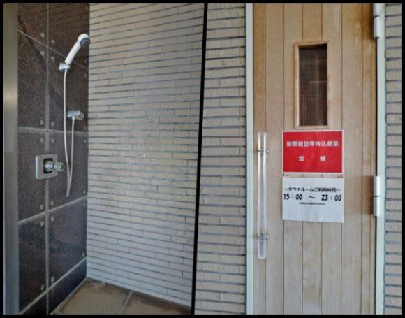 シャワーとサウナ室。水風呂はない。