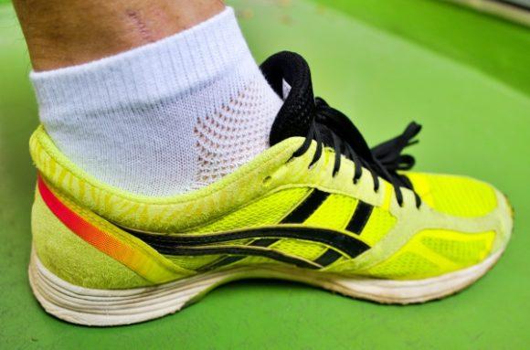 靴にもぴったし! これがサブ3.5ランナーの足だ。