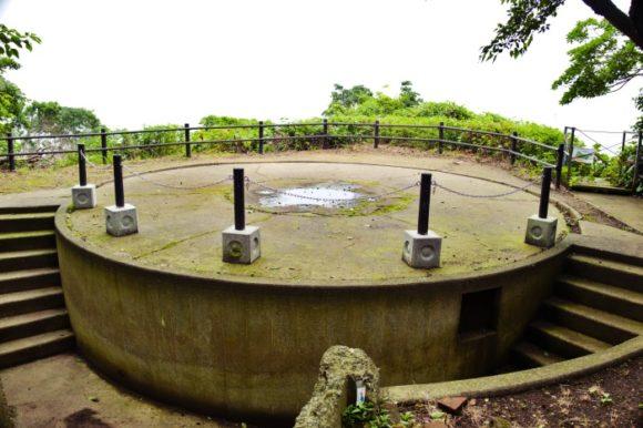 第2次大戦期に防空のために海軍によって設けられた砲台跡。