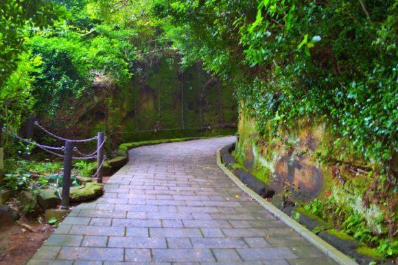 整備された坂道を行く。