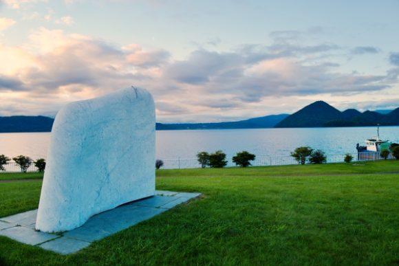 写真映えする洞爺湖。