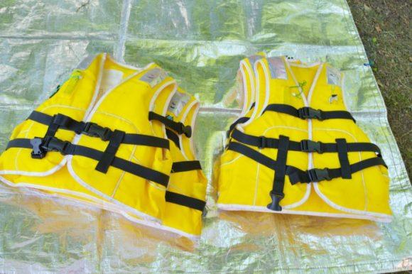 子ども用の救命胴衣。