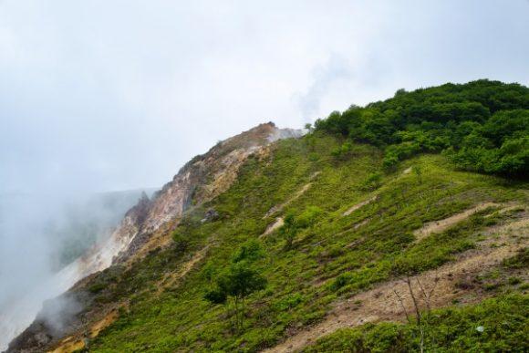 標高377メートルの日和山。蒸気の音が凄い。