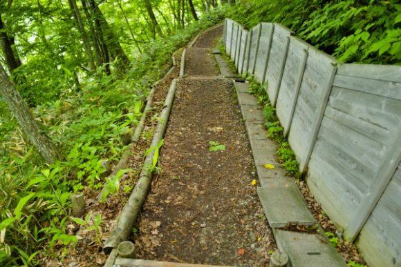 緩やかな階段を下る。