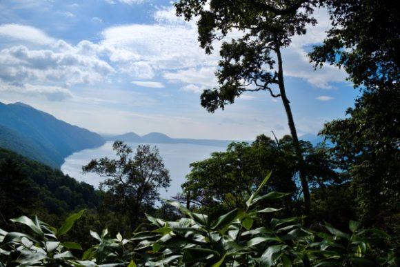 支笏湖の景色に疲労が軽減する。