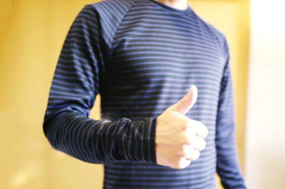 以前ブログで紹介したマーモットのロングTシャツ。