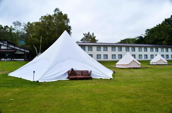 テントを見るとワクワクしますね。
