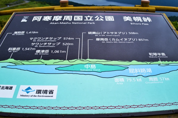 美幌峠から見える山々。