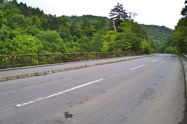 道道117号線。散歩には注意です。