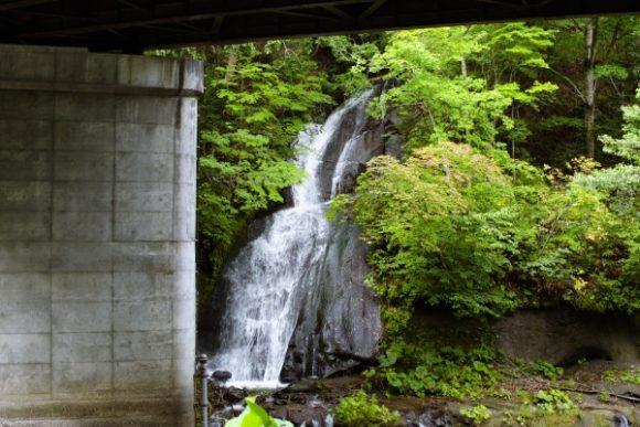 こちらが三段の滝。ちと遠い…