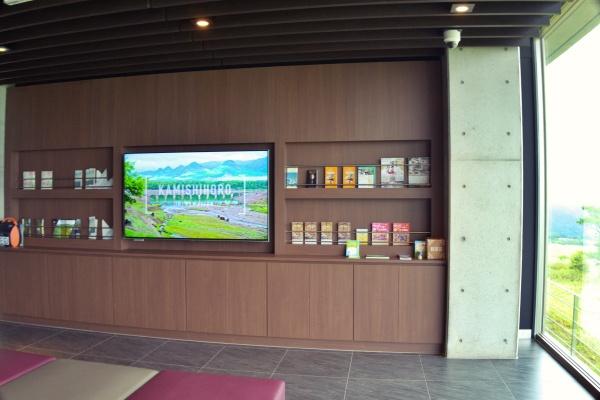 建物の中では士幌の観光スポットが紹介。
