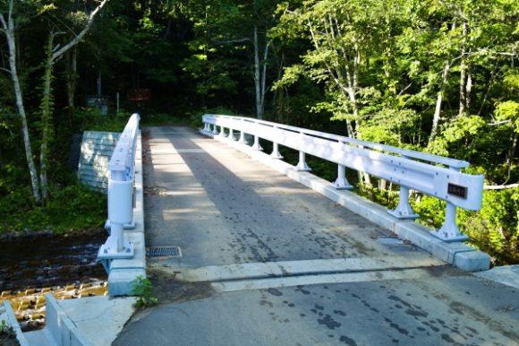 真駒内川の橋。