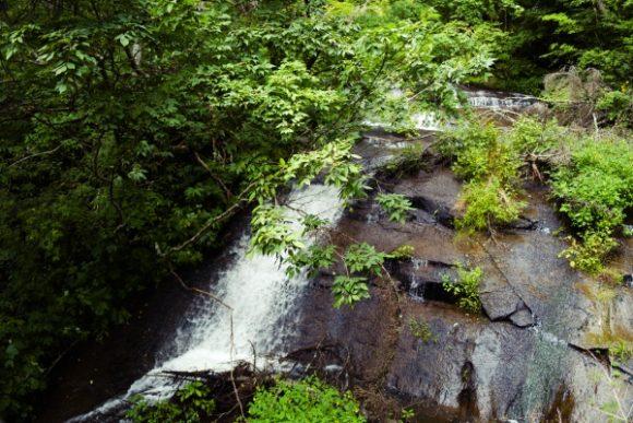 サウナ後に浴びたくなる滝です。
