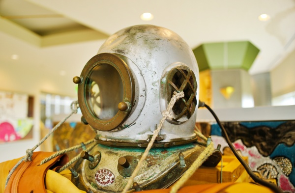 実際に漁師が使っていた水中器具
