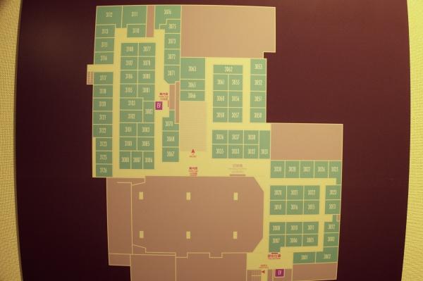 3階のフロアマップ。部屋が多い!