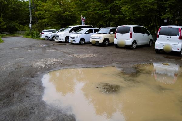 駐車場が広い。