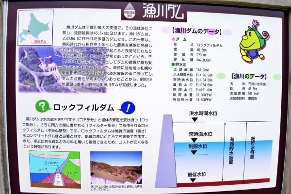 漁川ダム・ロックフィルダムの説明図。