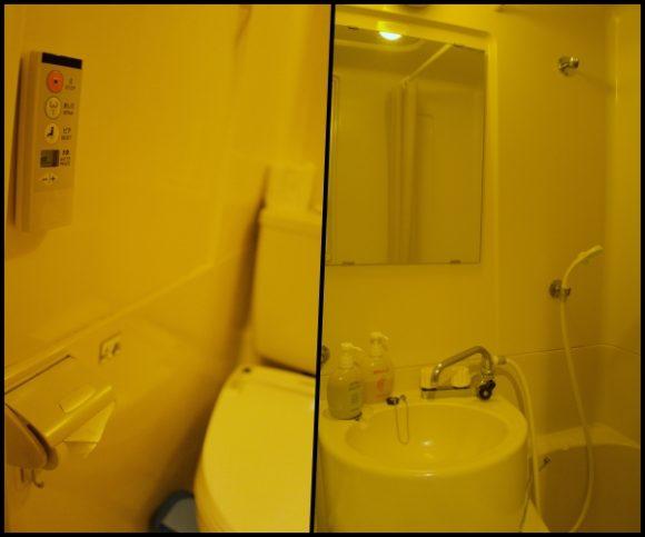 トイレと洗面台。
