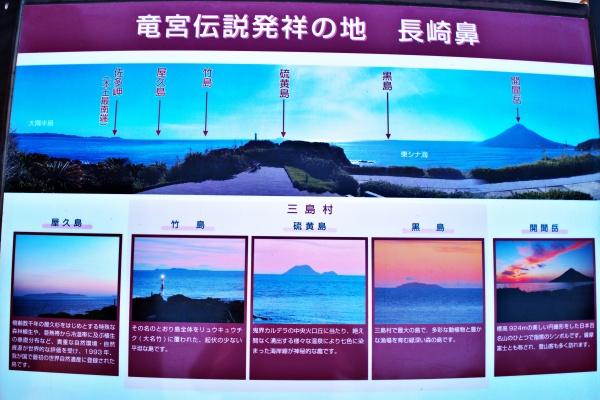 屋久島、硫黄島など見渡すことができる。