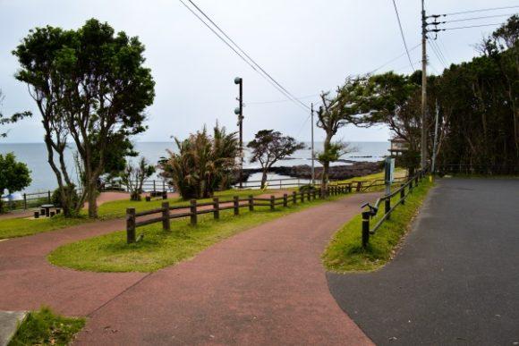 歩きやすい番所鼻自然公園。