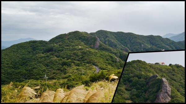 星降る丘展望所が遠くに見えます。
