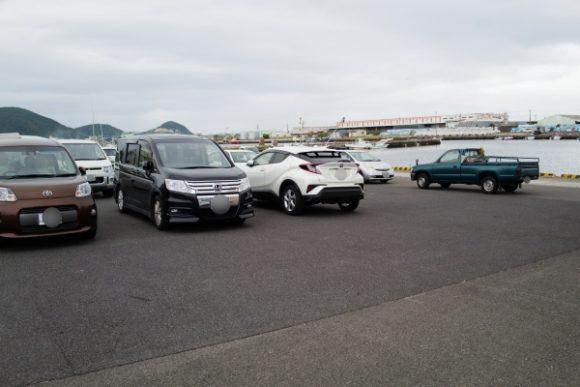 枕崎お魚センター前にある駐車場