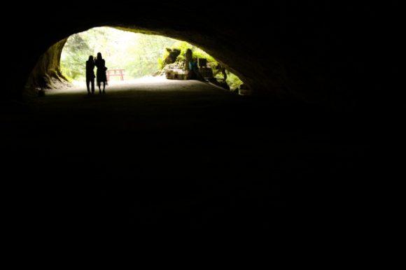 洞穴の中は自撮りがうまくいかないようです。