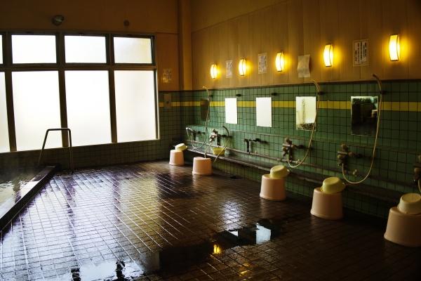体洗い場の様子。