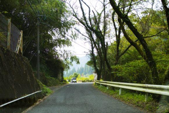 細い山道を抜ける。