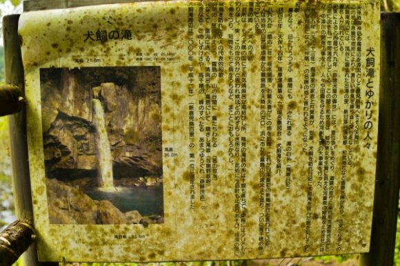 犬飼滝の説明図。