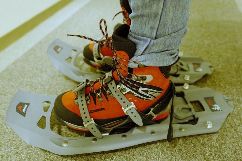 LOWA登山靴とも相性がいい。