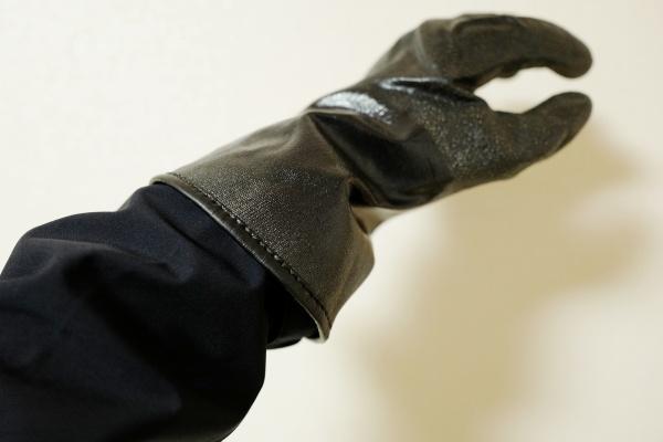 インナーの手袋が寒風をガードしているので、袖口から冷気が入ってくることもなかった。