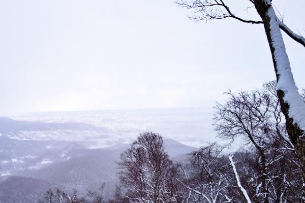 雪に包まれる札幌