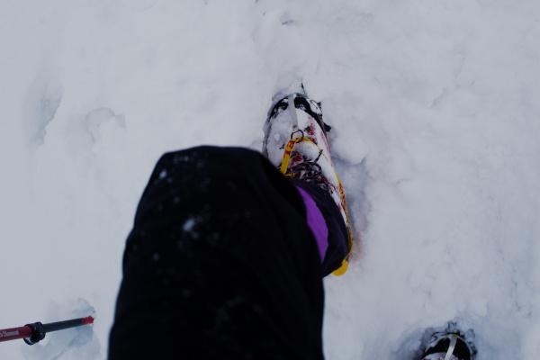 登山用ゲイターが役立つ。