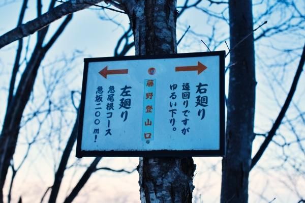 帰りの道案内の標識もありました。